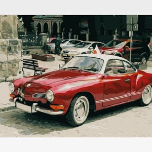 DIY Classic Car Paint By Numbers Kit Online  - Sports Coupe - Painting By Numbers Kit - Artwerkes