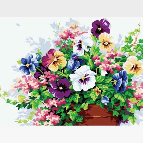Image of DIY Flowers Paint By Numbers Kit Online  - Butterfly's Paradise - Painting By Numbers Kit - Artwerkes