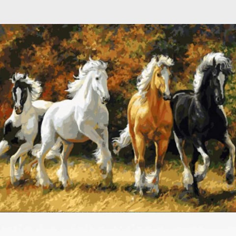 Image of DIY Horse Paint By Numbers Kit Online  - The Avengers - Painting By Numbers Kit - Artwerkes