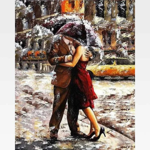 DIY Paint By Numbers Kit Online - Romantic Couple - Painting By Numbers Kit - Artwerkes