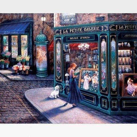 Image of DIY Paint By Numbers Kit Online  - Street Scene - Painting By Numbers Kit - Artwerkes