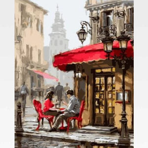 DIY Paint By Numbers Kit Online  - Vine Street Cafe - Painting By Numbers Kit - Artwerkes