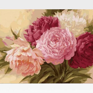 DIY Paint By Numbers Red Rose Flower Kit Online  - Possibly Pink - Painting By Numbers Kit - Artwerkes