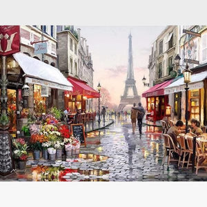 Paris Paint By Numbers Kit - Evening In Paris - Painting By Numbers Kit - Artwerkes