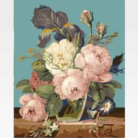 Image of DIY Paint By Numbers Kit Online - An Ode To  Flowers - Painting By Numbers Kit - Artwerkes
