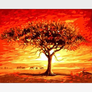 DIY  Tree Of Life Paint By Numbers Kit - Painting By Numbers Kit - Artwerkes