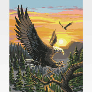 Eagle Paint By Numbers Kit - Painting By Numbers Kit - Artwerkes