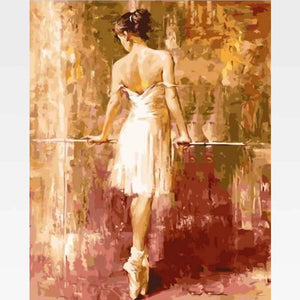 Easy Woman Painting By Numbers Kit  - Casablanca - Painting By Numbers Kit - Artwerkes