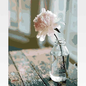 Flower In A Bottle Paint By Numbers Kit - Painting By Numbers Kit - Artwerkes