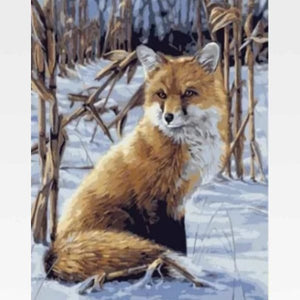 Fox Paint By Numbers Kit - Painting By Numbers Kit - Artwerkes