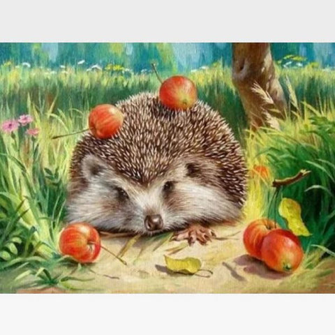 Hedgehog Paint By Numbers Kit - Painting By Numbers Kit - Artwerkes