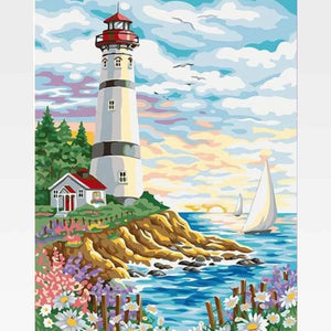 Lighthouse Paint By Numbers Kit - Painting By Numbers Kit - Artwerkes