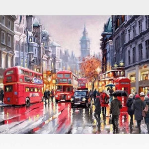London City Paint By Numbers Kit - Painting By Numbers Kit - Artwerkes