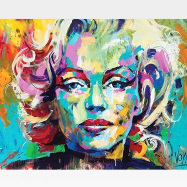 Marilyn Monroe Paint By Numbers Kit - Painting By Numbers Kit - Artwerkes