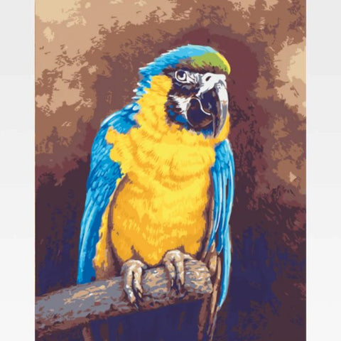 Parrot Paint By Numbers Kit For Adults - Painting By Numbers Kit - Artwerkes