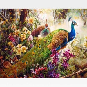 Peacock Paint By Numbers Kit - Painting By Numbers Kit - Artwerkes