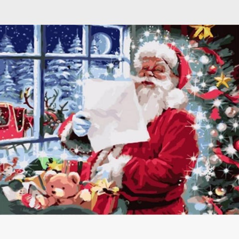 Santa Claus - DIY Christmas Paint by Numbers Kits for Adults - Painting By Numbers Kit - Artwerkes