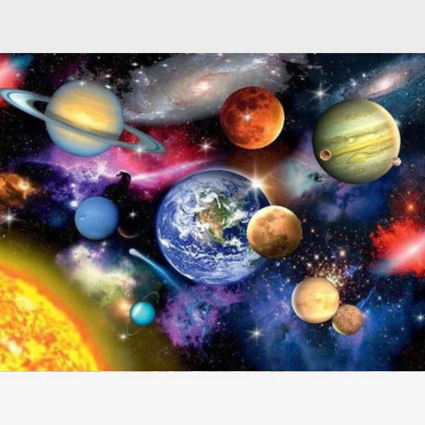 Image of Space Paint By Numbers Kit For Adults - Painting By Numbers Kit - Artwerkes