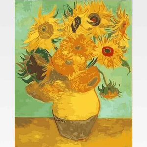 Sunflowers - Paint By Numbers Kit - Van Gogh - Painting By Numbers Kit - Artwerkes