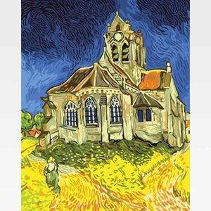 The Church at Auvers  - Paint by Numbers Kit -Van Gogh - Painting By Numbers Kit - Artwerkes