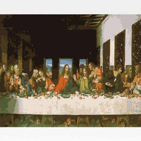 The Last Supper Paint By Numbers Kit - Painting By Numbers Kit - Artwerkes