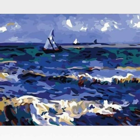 The Saintes Ocean - Paint by Numbers Kit - Van Gogh - Painting By Numbers Kit - Artwerkes