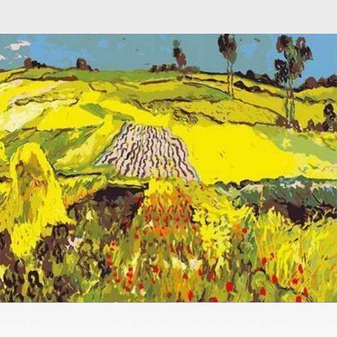 Wheat Fields At Auvers - Paint By Numbers Kit - Van Gogh - Painting By Numbers Kit - Artwerkes