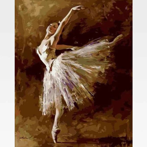 Woman Dancing Paint By Numbers Kit - The Last Song - Painting By Numbers Kit - Artwerkes