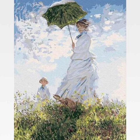 Woman with a Parasol - Claude Monet Paint By Numbers - Painting By Numbers Kit - Artwerkes