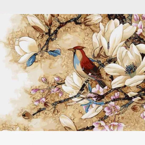 Image of Woodpecker Bird Paint By Numbers Kit  - SpringTime - Painting By Numbers Kit - Artwerkes