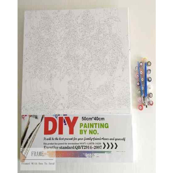 DIY Abstract Pink Flowers Paint By Numbers - Pink Is Perfect - Painting By Numbers Kit - Artwerkes