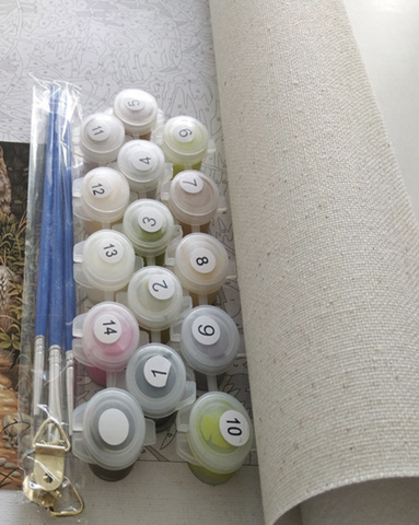 DIY Seacape Paint By Numbers Kit - Westray Place - Painting By Numbers Kit - Artwerkes
