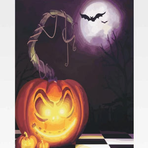Halloween Paint By Numbers Kit - Painting By Numbers Kit - Artwerkes