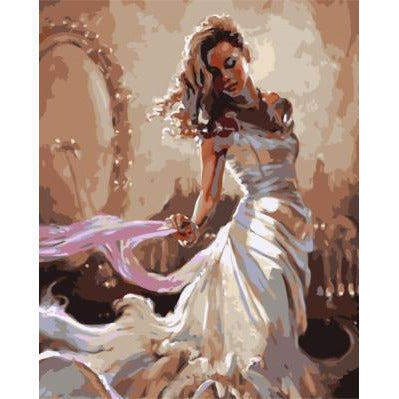 Beautiful Woman Paint By Numbers Kit  - Cinderella's Ball - Painting By Numbers Kit - Artwerkes