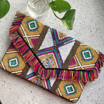 Kaleidoscopic Beaded Bohemian Clutch