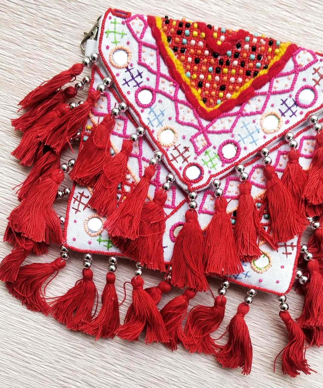 Cali Bag - Red Beaded
