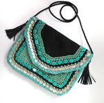 Turquoise Vaso - Glass Beads Bag