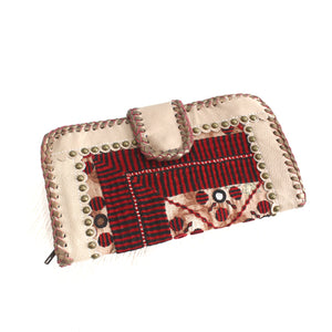 Premium Leather Banjara Wallet15 - Creamy
