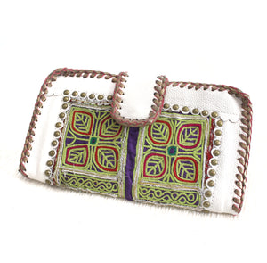 Premium Leather Banjara Wallet20 - White