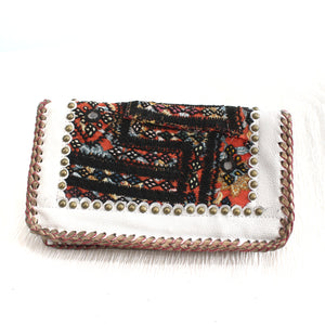 Premium Leather Banjara Wallet22 - White