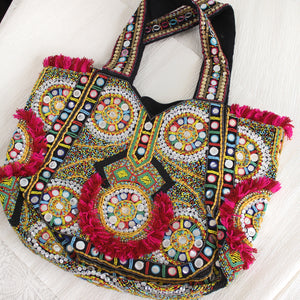 Tote Banjara10 - Beaded all over