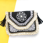 Atlantic Embroidered Coin Clutch
