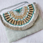 Santorini Shell Jute Clutch Boho Bag