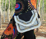 Gypsy Aztec - Black Jute Clutch
