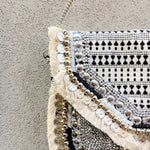 Hellas Black & White Jacquard Bag
