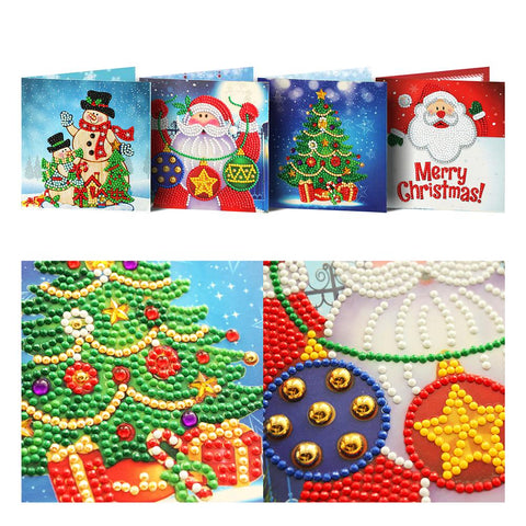 Set of 4 Jolly Christmas Cards | Diamond Painting - Treasure Studios Art