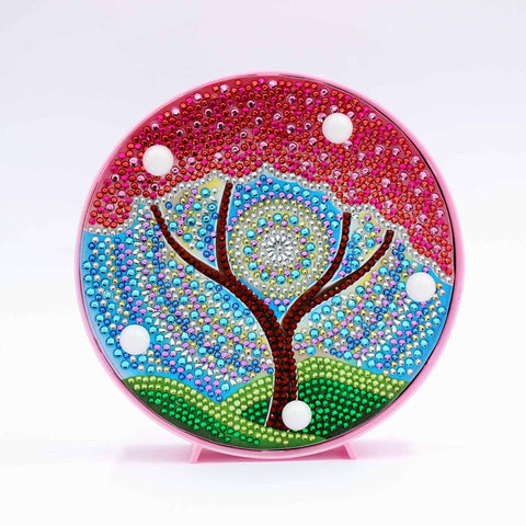 Red Tree of Life | LED Light | Diamond Painting - Treasure Studios Art
