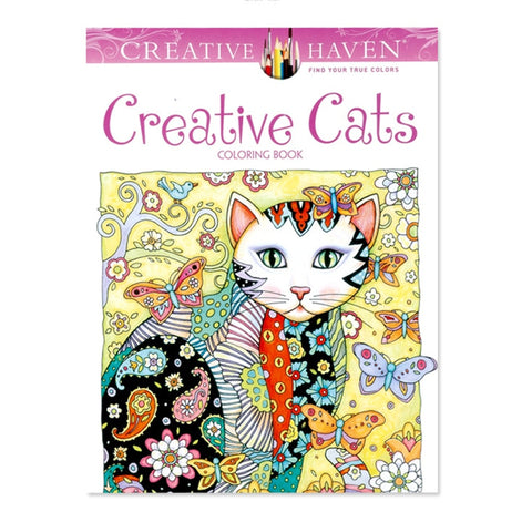 Creative Cats | Adult Coloring Book - Treasure Studios Art