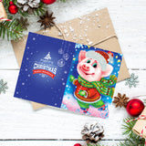 Set of 8 Cute Animal Christmas Cards | Diamond Painting - Treasure Studios Art