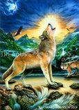 Howling Wolf by Howard Robinson | Diamond Painting - Treasure Studios Art